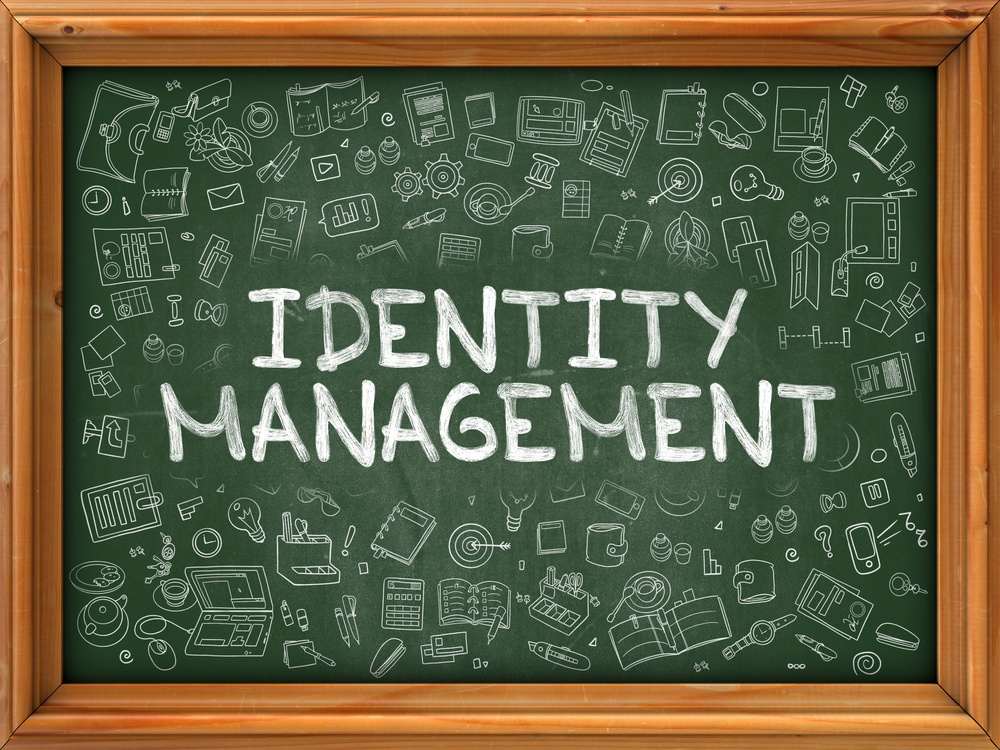 AMS SSO standards represented by an identity management chalk illustration